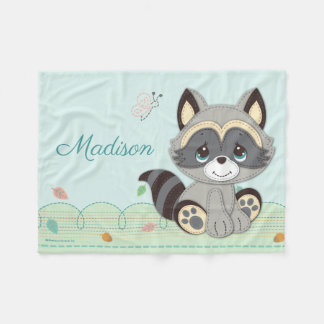 Precious Moments | Woodland Baby Raccoon Fleece Blanket
