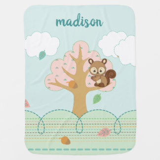 Precious Moments | Woodland Baby Squirrel Baby Blanket