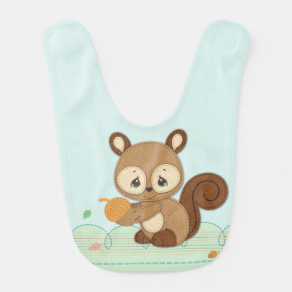 Precious Moments | Woodland Baby Squirrel Bib