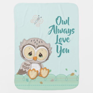 Precious Moments | Woodland Owl Always Love You Baby Blanket