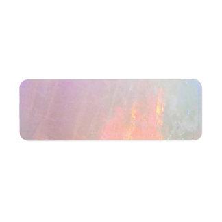 Precious opal return address label