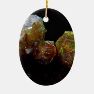 Precious opals ceramic ornament