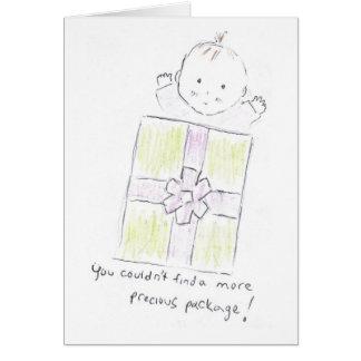 Precious package card