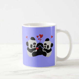 Precious Panda Hearts Coffee Mug