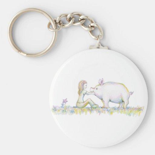 Precious Pig Keychains