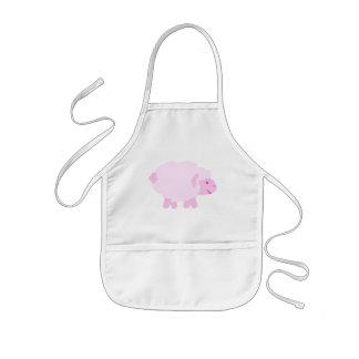 Precious Pink Little Lamb Kids Apron