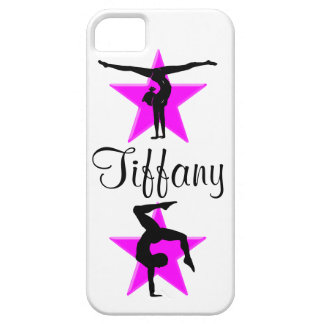 PRECIOUS PINK PERSONALIZED GYMNAST IPHONE CASE