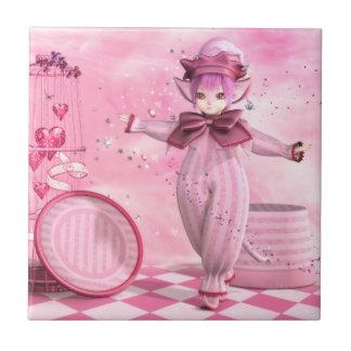 Precious Pink Whimsy Ceramic Tile