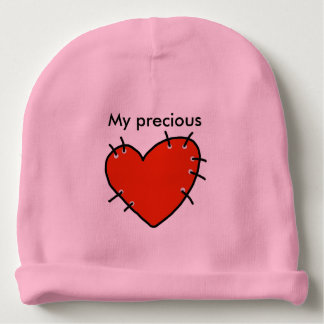 Precious Red Heart Baby Cotton Beanie Baby Beanie
