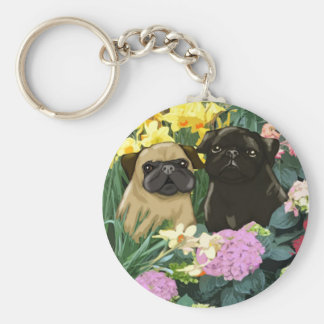 Precious Spring Pugs Keychains