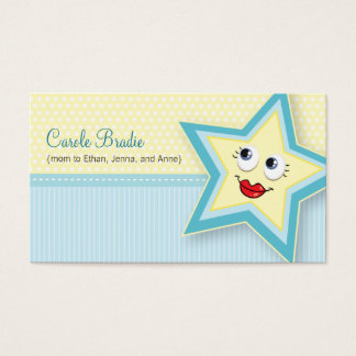 Precious Star Mommy Card Baby Blue Business Card