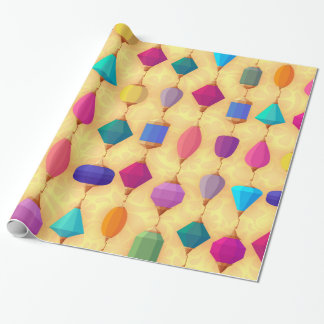 Precious stone wrapping paper