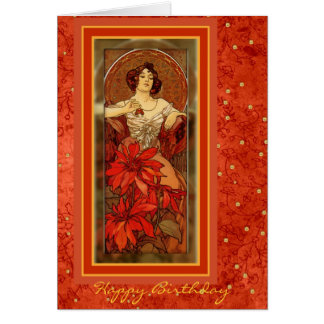 """Precious Stones - Ruby"" 1900 - July Birthday Card"