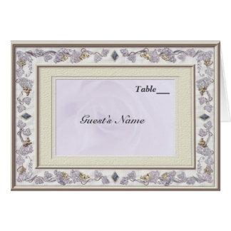 Precious Wedding Table Seating Menu Card