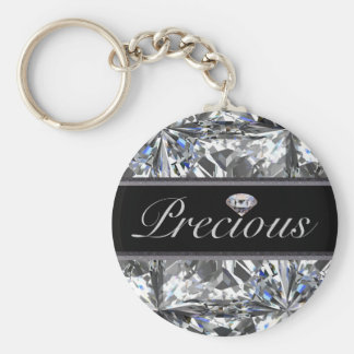 Precious White Gem Design Key Chain