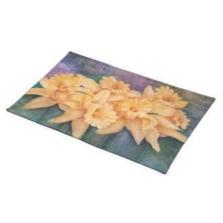 PRECIOUS YELLOW DAFFODILS  FLORAL PLACEMAT