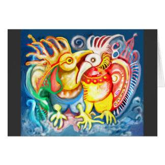 Precolumbian birds card