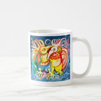 Precolumbian birds coffee mug