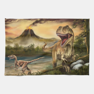 Predator Dinosaurs Kitchen Towel