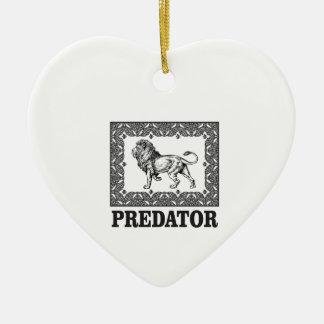 Predator the lion ceramic ornament