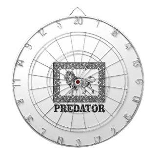 Predator the lion dartboard
