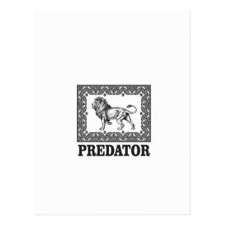 Predator the lion postcard