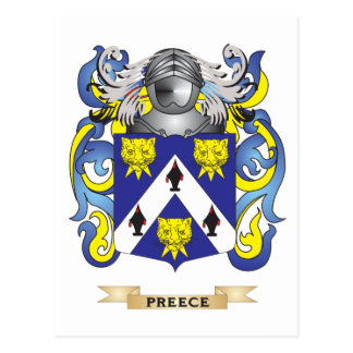Preece Coat of Arms (Family Crest) Postcards