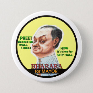 Preet Bharara for NYC Mayor 2017 7.5 Cm Round Badge