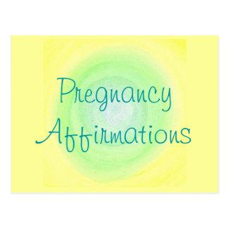 Pregnancy Affirmations, postcards
