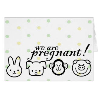 Pregnancy Announcement Greeting Card