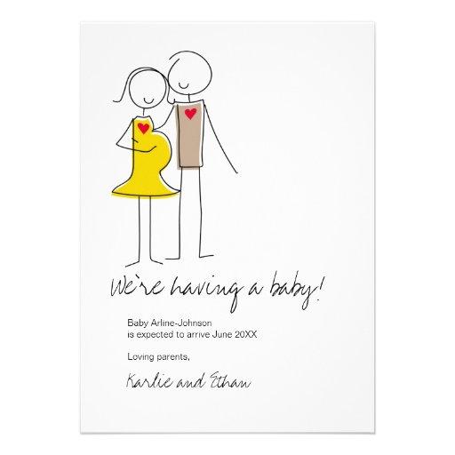 Pregnancy Announcement, Neutral Colors