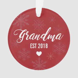 Pregnancy Announcement Ornament for Mom to Grandma