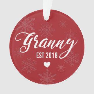 Pregnancy Announcement Ornament for Mom to Granny