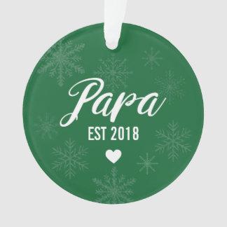 Pregnancy Announcement Ornament, Papa Est. Ornament