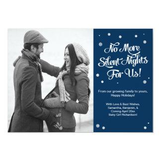 Pregnancy Christmas Photo Card Announcement- Night 13 Cm X 18 Cm Invitation Card