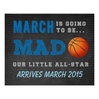 Pregnancy Reveal - March Madness Poster