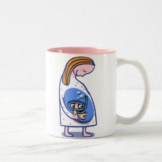 pregnancy Two-Tone coffee mug