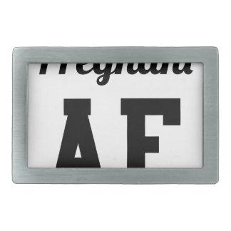 Pregnant AF Rectangular Belt Buckles