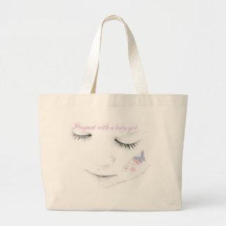 Pregnant baby girl canvas bag