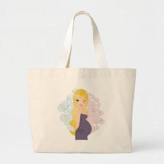 Pregnant girl or boy canvas bags