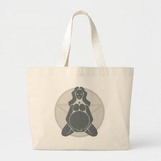 Pregnant Goddess Tote Bags