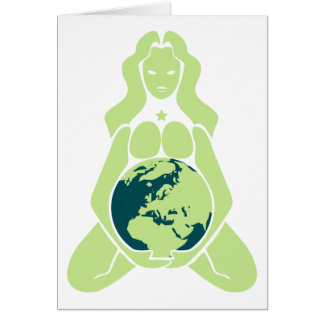 Pregnant Goddess Earth Variation Europe Card