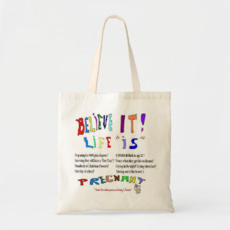 Pregnant Life Is Budget Tote Bag