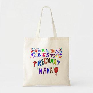 Pregnant Mama Tote Bags