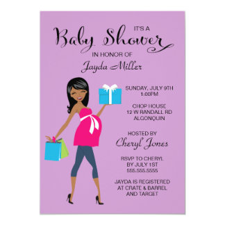 Pregnant Mamma Baby Shower Invitation
