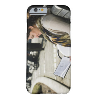 Pregnant Middle Eastern woman reading on park Barely There iPhone 6 Case