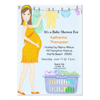 Pregnant Mom Laundry  Invitation