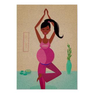 Pregnant mom Yoga courses invitation  /  Recycle