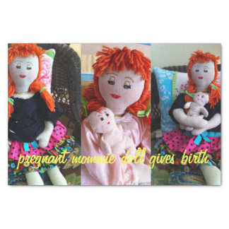 Pregnant Mommie Doll Tissue Paper