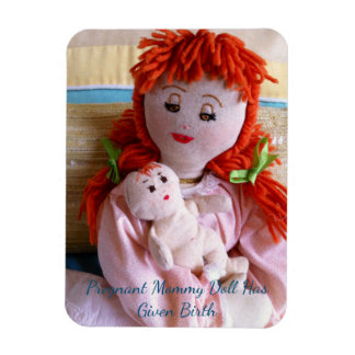 Pregnant Mommy Doll Has Given Birth Magnet